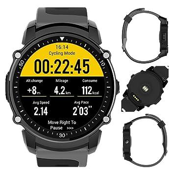 FS08 patrones de deportes reloj inteligente Android5.0 y ios9.0, IP68 impermeable Ciclismo corazón tasa presión podómetro seguimiento una variedad GPS ...