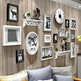 Home@Wall photo frame Wood 14 Pcs/sets Collage Photo Frame Set,Vintage Picture Frames,Family Picture Frame Wall,Wedding Photo Frames DIY Photo Frame Sets For Wall ( Color : C )