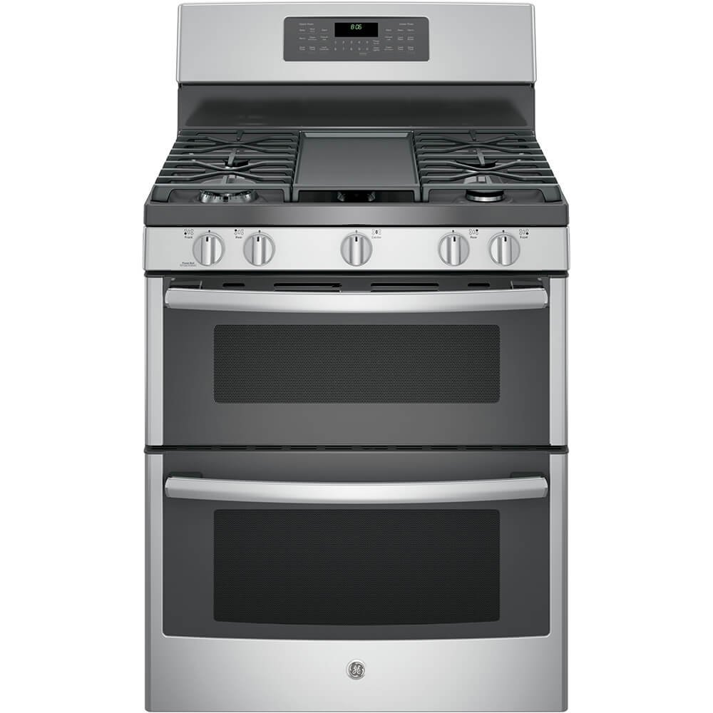 """GE JGB860SEJSS 30"""" Stainless Steel Gas Sealed Burner Double Oven Range - Convection"""