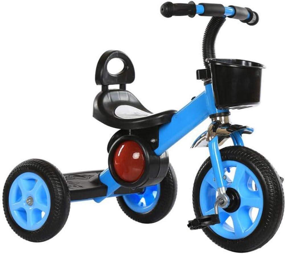 Detazhi Marco triciclos niños Triciclo Reforzado de Acero al Carbono for niños neumático neumático de Carga Peso 25Kg 1-6 años Cumpleaños niños y Regalo del niño Triciclo Disponible, c (Color : A)