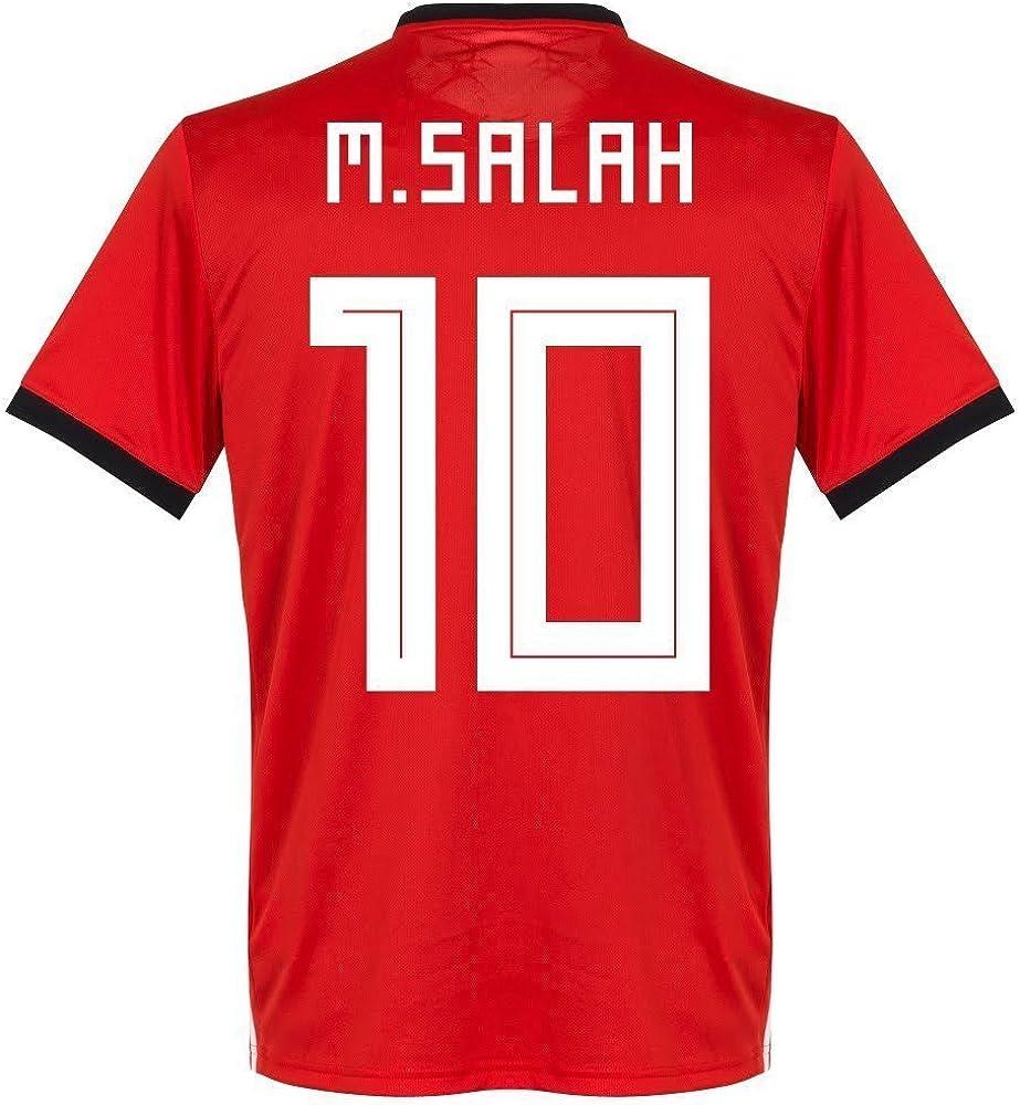 2018-2019 Copa Mundial Egipto 10 Camiseta Salah Color Rojo - Rojo - Large: Amazon.es: Ropa y accesorios