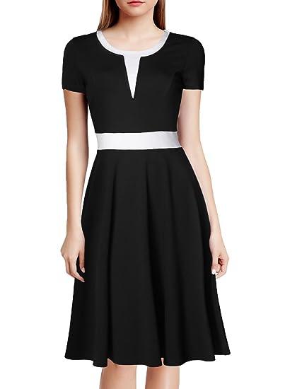 Short Sleeve Colorblock Dress