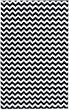 Contemporary Black Chevron Striped Rug 7-Foot 10-Inch x 9-Foot 10-Inch Designer Area Rug Review
