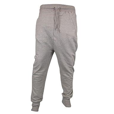 0fd699ef0b Gensen Mens Joggers Skinny Drop Crotch Cuffed Jogging Pants Tracksuit  Bottoms Fleece