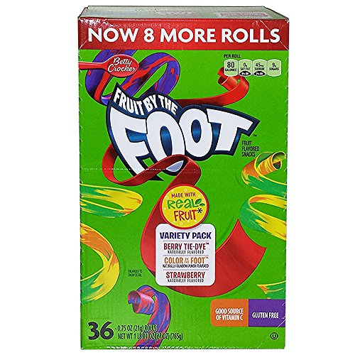 Fruit By the Foot Variety Pack (Strawberry, Berry Tie Dye, Color By the Foot, 36-count Rolls by Betty Crocker (Image #1)