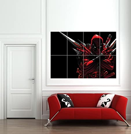 Etonnant DEADPOOL GIANT WALL ART PRINT POSTER B744