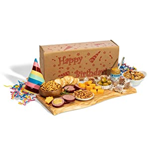 Dan the Sausageman's Happy Birthday Box Featuring Dan's Original Summer Sausage, Wisconsin Cheese, and Sweet Hot Mustard