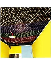 Protective Rope Netting Garden Rope Net Climbing Amusement Equipment Ceiling Decoration Color Nylon Rope Net 6mm*8cm Climbing Cargo Net(Size:5 * 8m(16 * 26ft))