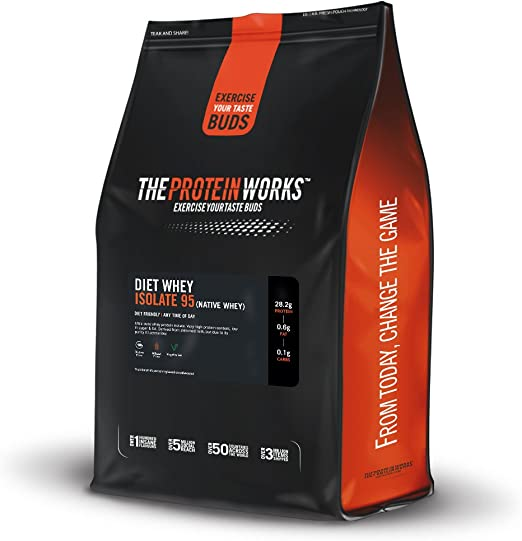 Diet Whey Isolate 95 | Aislado de proteína de suero Dietético | Sin sabor - 2 kg
