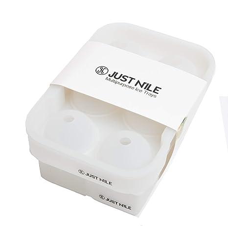 Amazon.com: JustNile Ice Cube bandejas de silicona grande ...