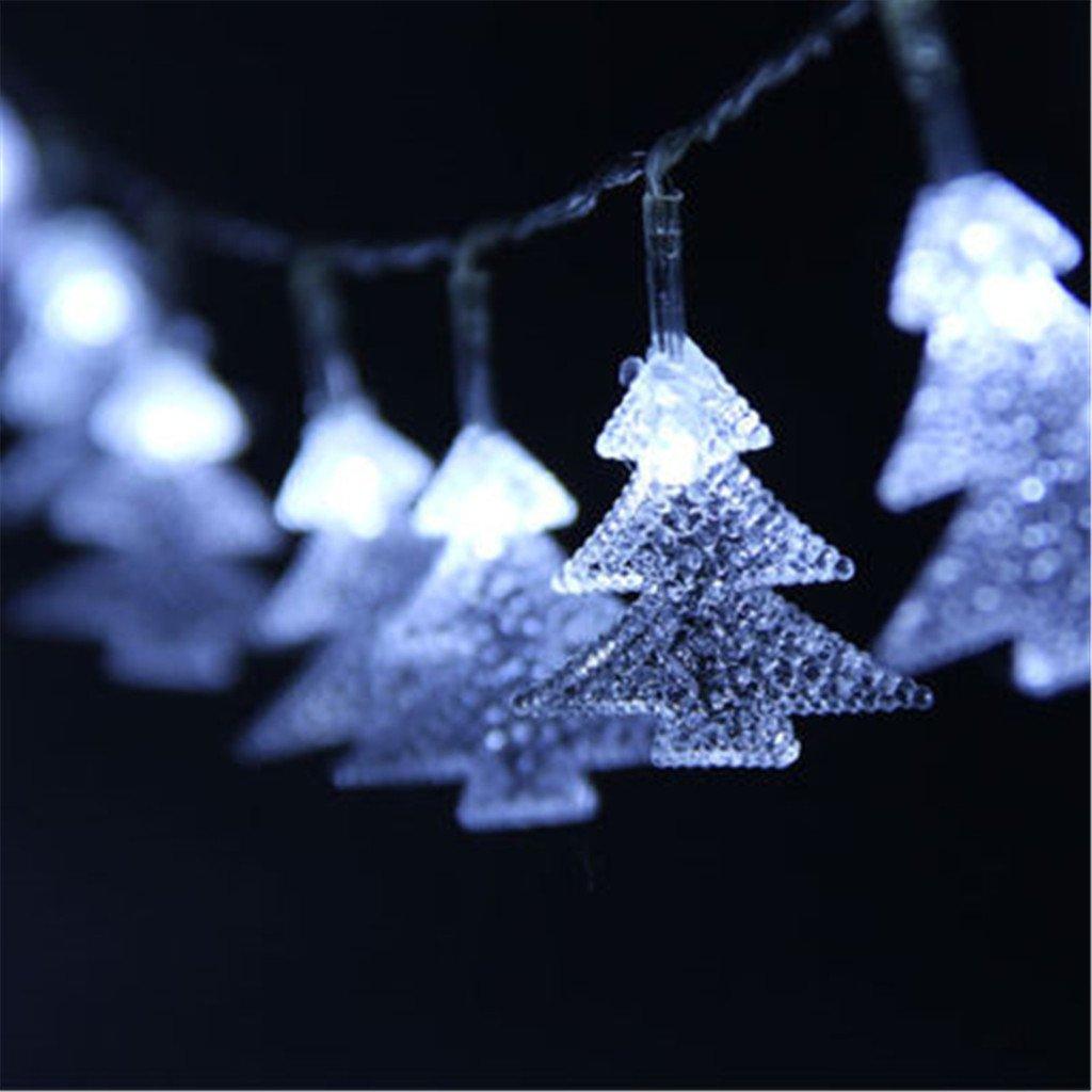 ERGEOB Eiszapfen Weihnachtsbaum hängen Lichterkette von 10 weißen ...