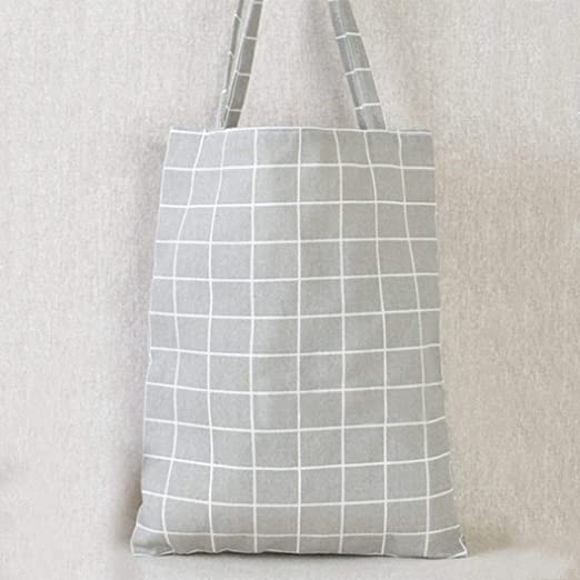Nuevos enrejados reutilizables Lino de algodón Bolsa de compras ...
