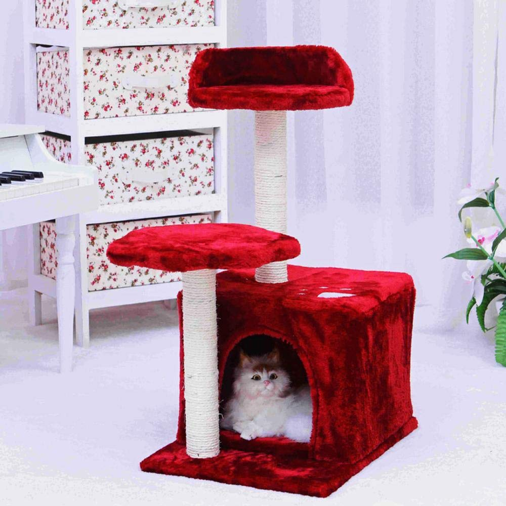 Axiba Play Towers Trees for Cats Cat Scratch Column Pet cat Scratch board with pedestal plush 40  30  68cm