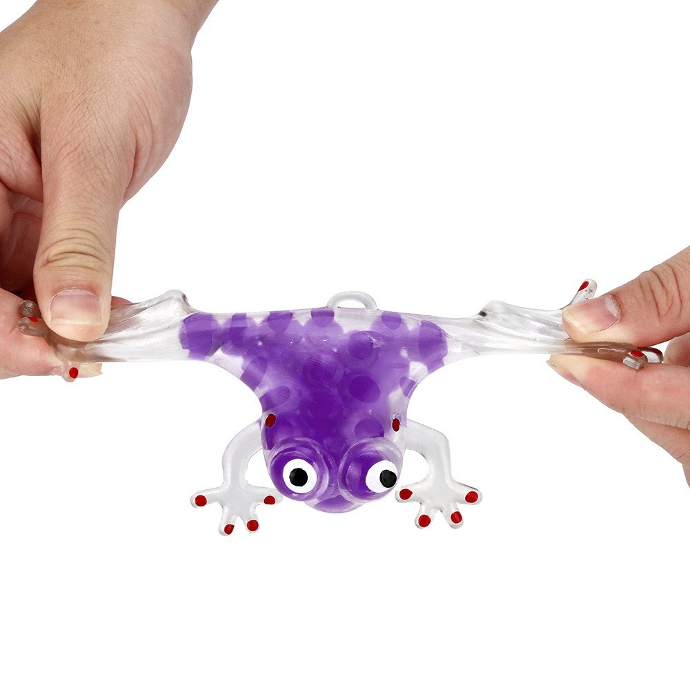 Zolimx Perlen-Druck-Ball-klebrige Presse-Fr/ösche der Neuheit-6cm die Druck-Entlastungs-Spielzeug zusammendr/ücken Lila Zolimix Squeeze Spielzeug Dekompressionsspielzeug
