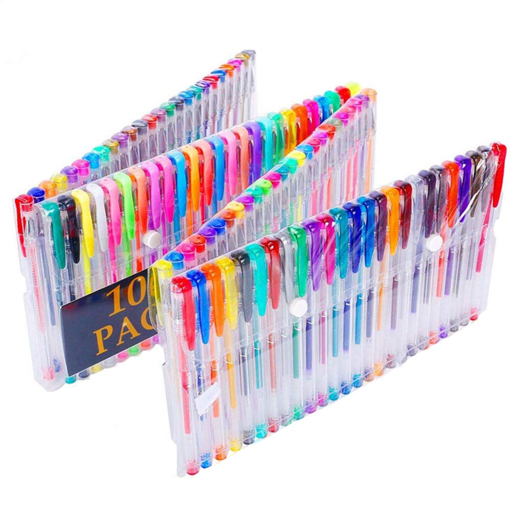 Yuxiale 100 Colors Gel Pen Set Plus Perfect for Adult Coloring Books Drawing and Writing Art Markers by Yuxiale