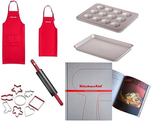 KitchenAid KG318ER - Juego de moldes para Magdalenas (248 páginas, Incluye Libro de Recetas): Amazon.es: Hogar