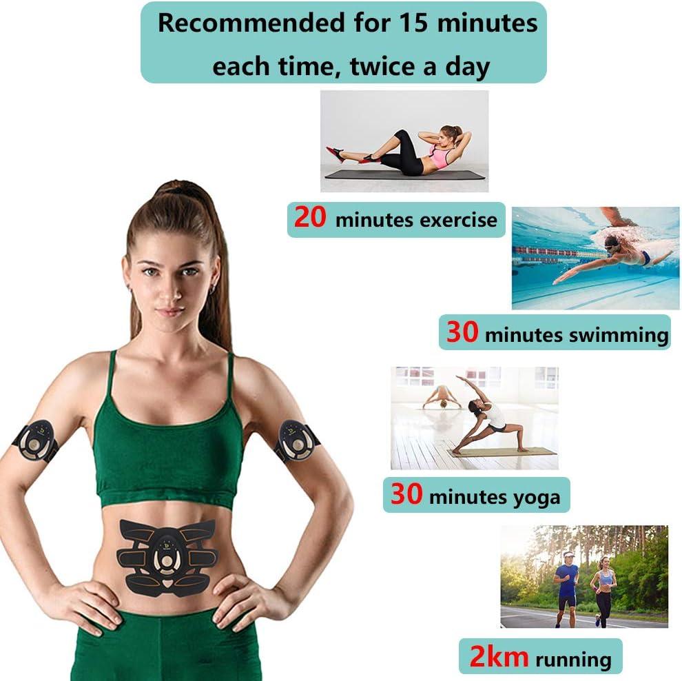 Elektrische Muskelstimulator 6 Modi 11 Intensit/äten EMS Training f/ür Bauchmuskel Arm Beine Po Fitness Unbekannt EMS Trainingsger/ät