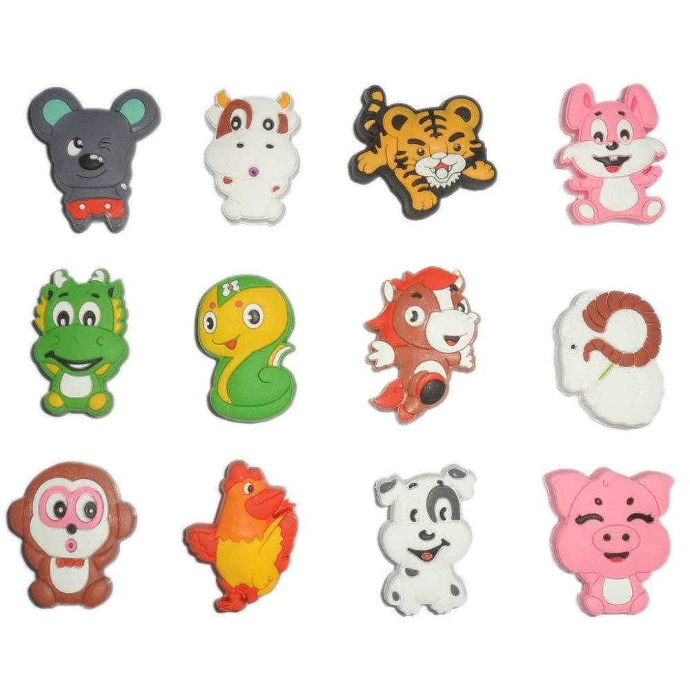 Sala-Fnt - Soft Rubber Cabinet Door Knobs cute Cartoon animal Drawer Wardrobe Pulls Handles for Kids room