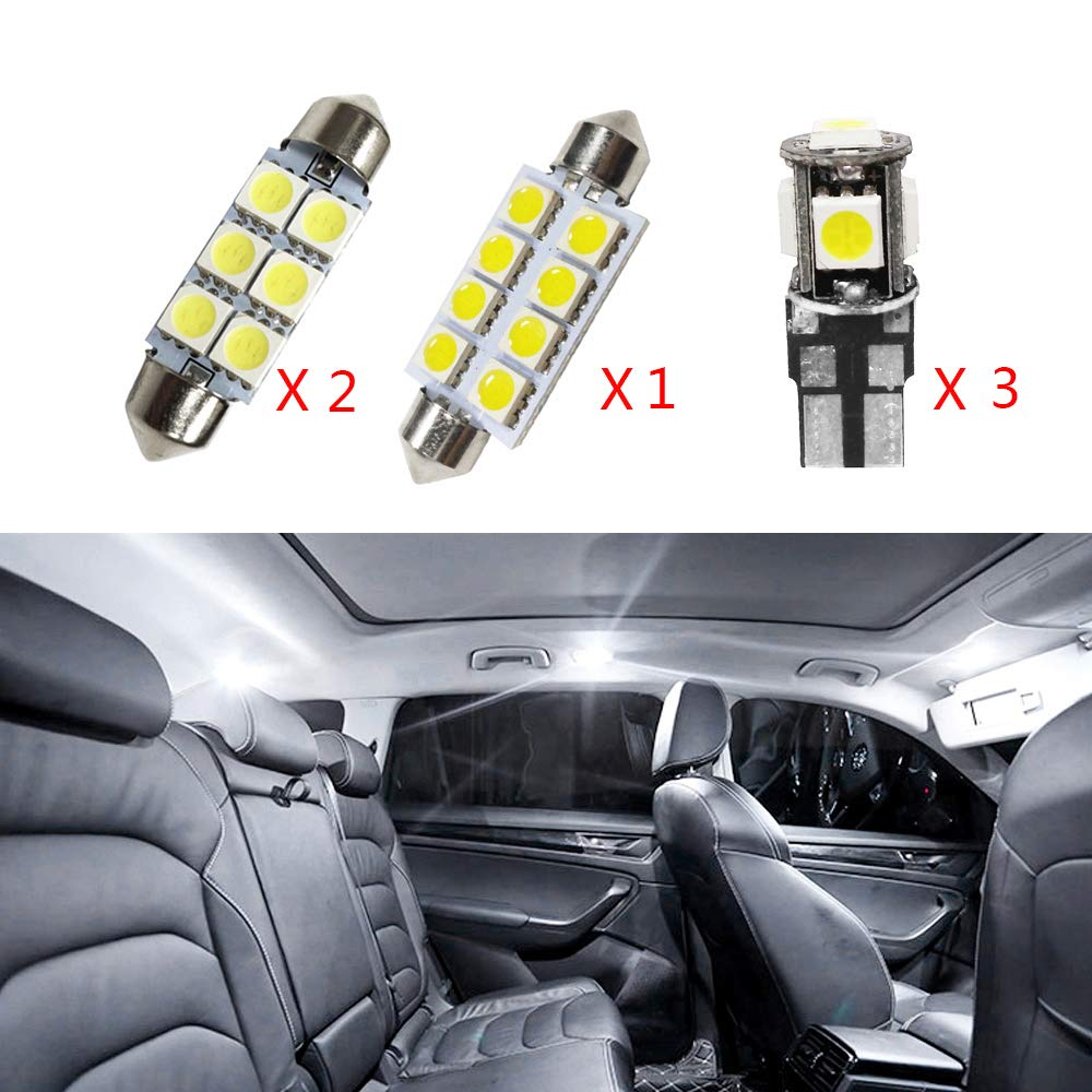 For JETTA MK5 Passat B6 R36 Super Bright LED Interior Lights Source Car Lamp Replacement Bulbs White Pack of 9 Cobear