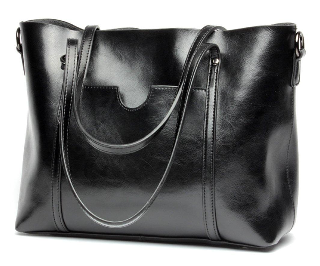 Molodo Womens Satchel Hobo Stylish Top Handle Tote Genuine Leather Handbag Shoulder Purse