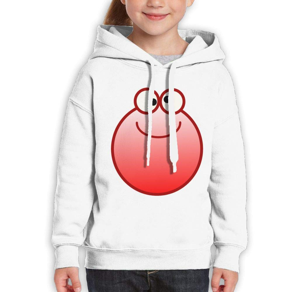 Qiop Nee Smiling Red Potato Unisex Hoodies Print Long Sleeve Sweatshirt for Girls