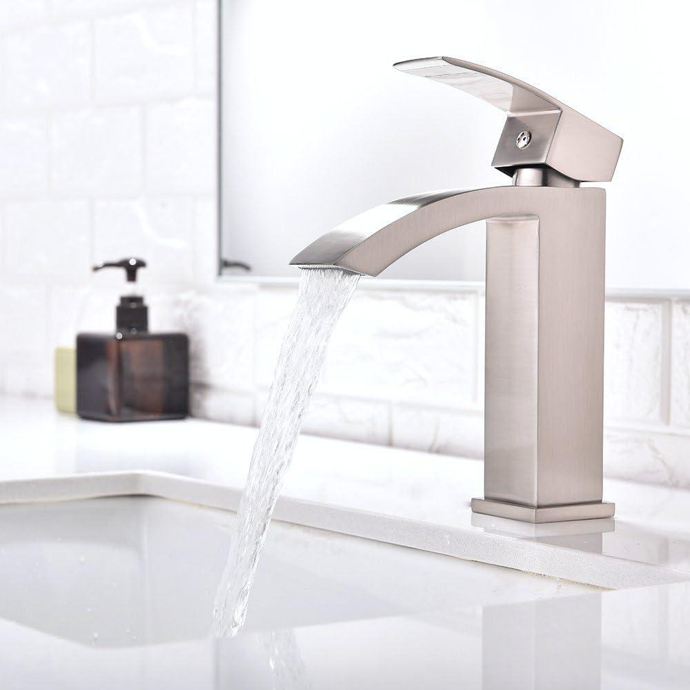 Friho Single Handle Waterfall Bathroom Vanity Sink Faucet With