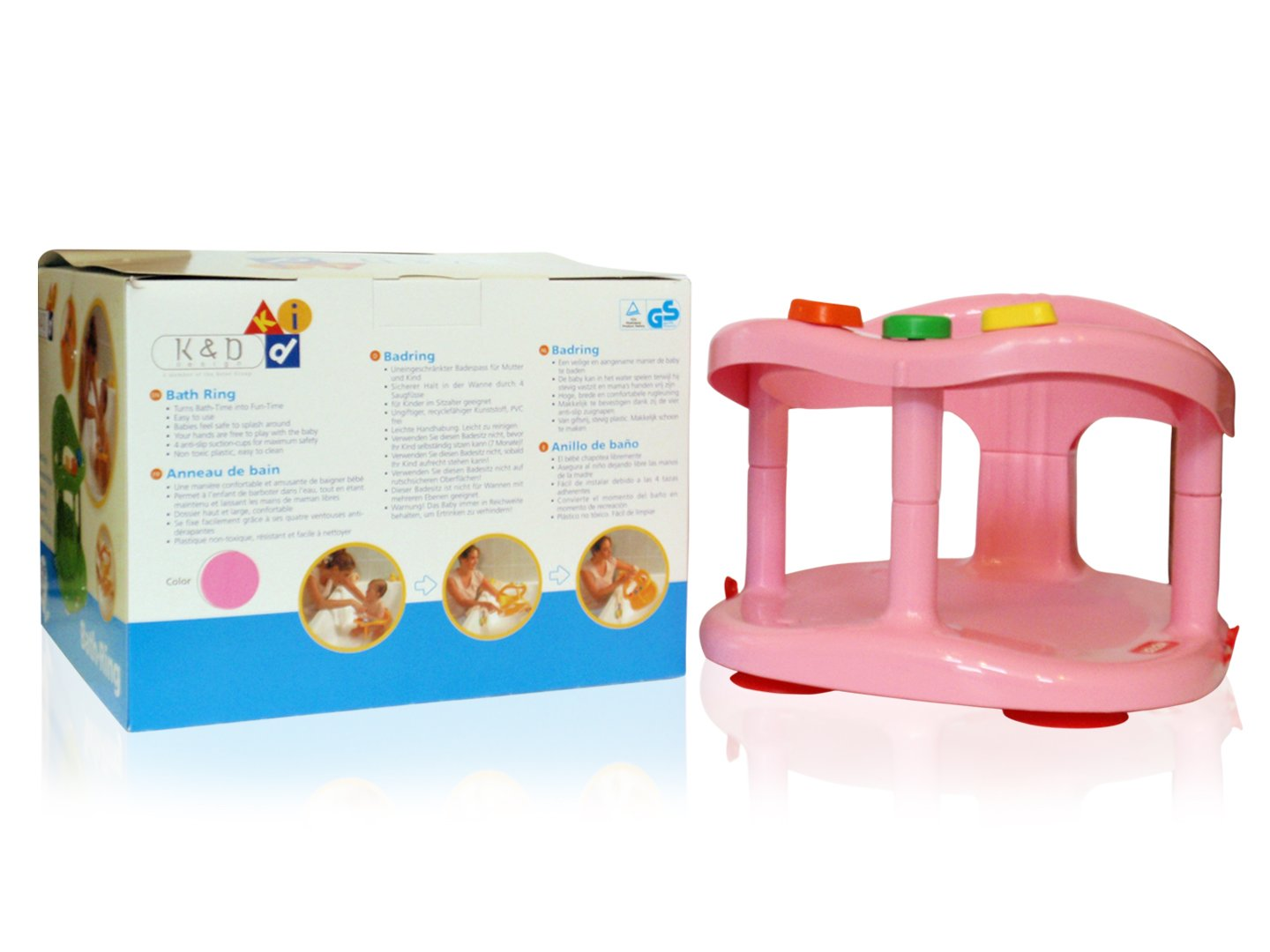 Baby Bath Tub Ring Seat New in Box By KETER PINK !!! 222601