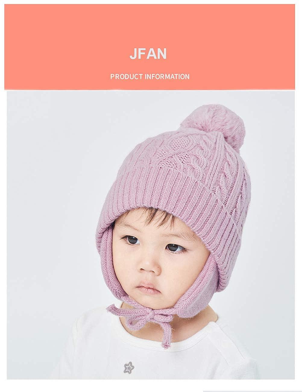 JFan Sombrero de Beb/é Sombreros de Invierno de Punto Sombrero de Gorro para Ni/ños Peque/ños Forro Polar Forros Gruesos Gorros de Beb/é para Beb/és Sombreros de Ni/ña Beb/é