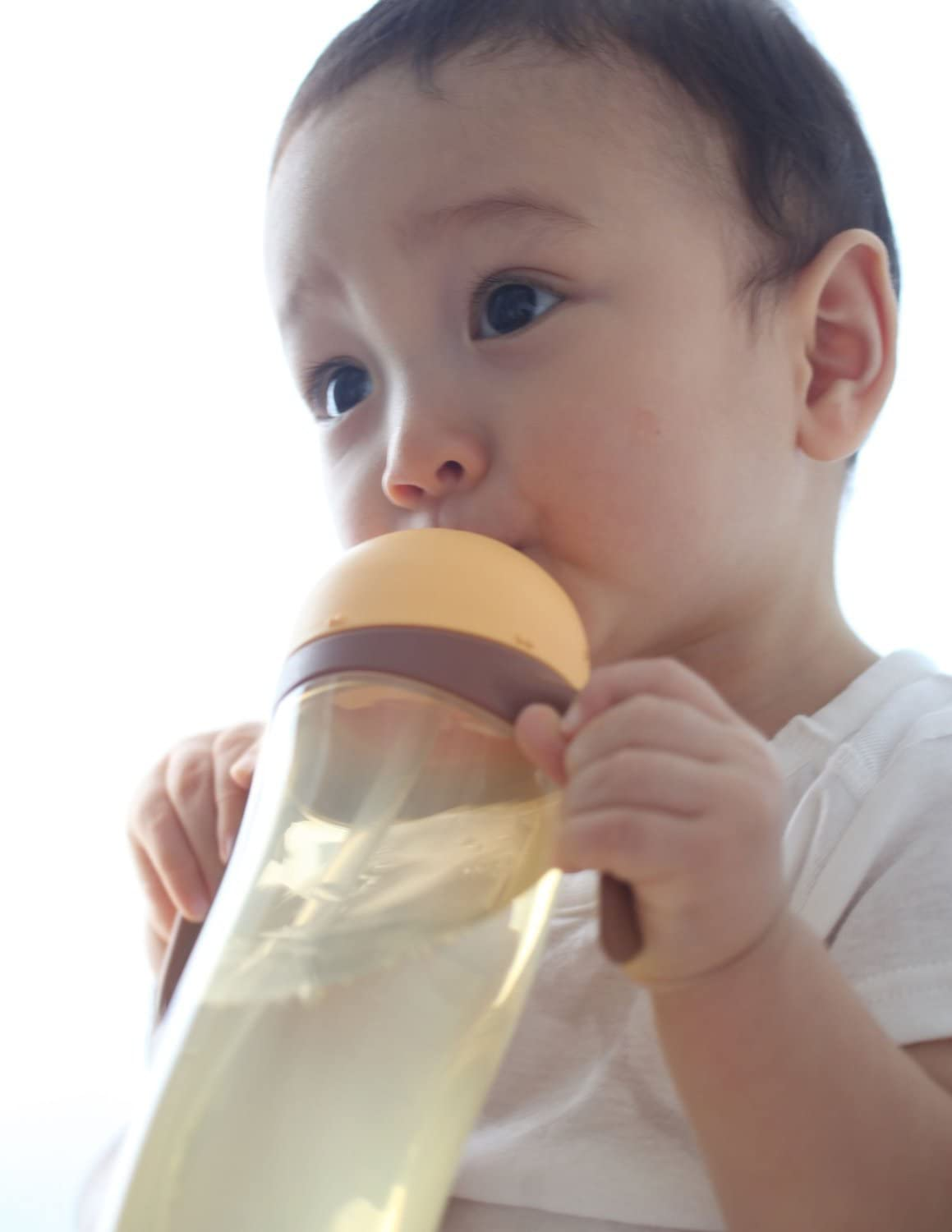 Pigeon Tall Baby Training Drinking Cup Straw Bottle BPA Free for 9 Months+ Yellow japan import