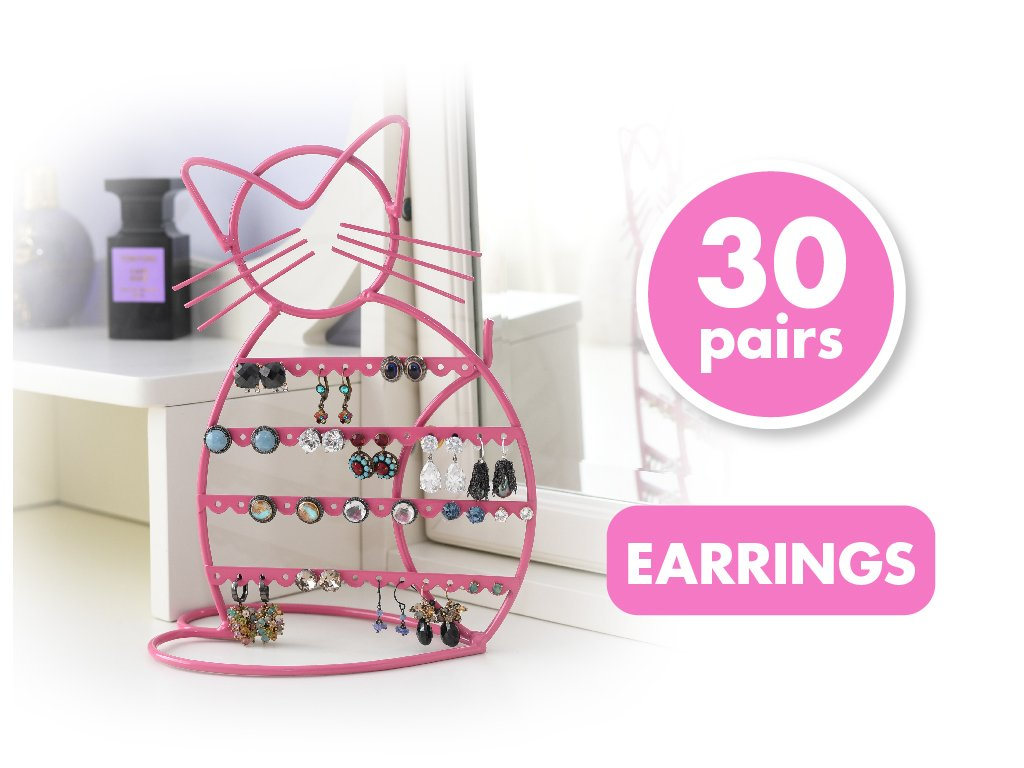 ARAD Metal Jewelry Cat, Holder Organizer-Hanging Jewelry Display Earrings & Other Piercings by ARAD (Image #7)