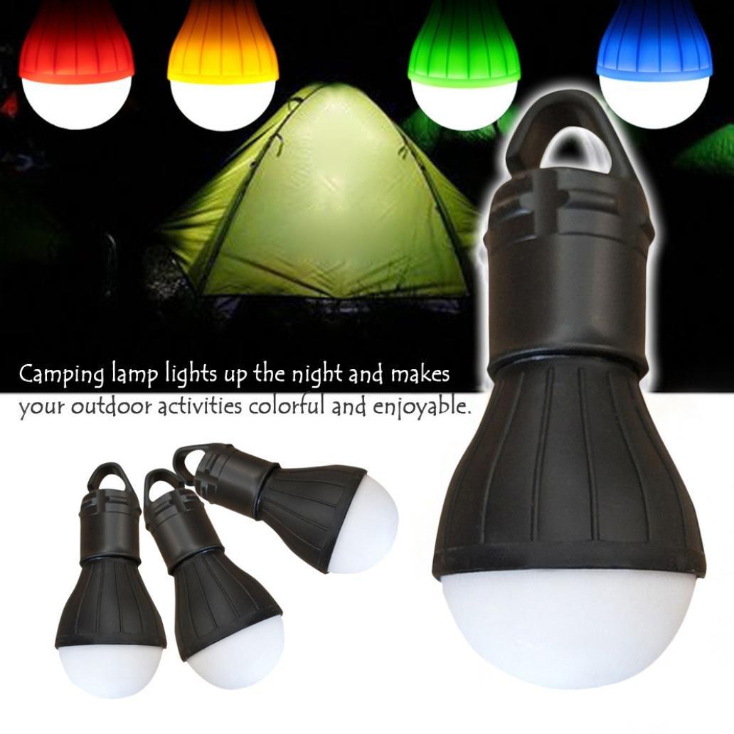 EnjoCho Camping Light, Outdoor Emergency Lamp LED Camping Hik Tent Fishing Lantern Hanging Light (Black)