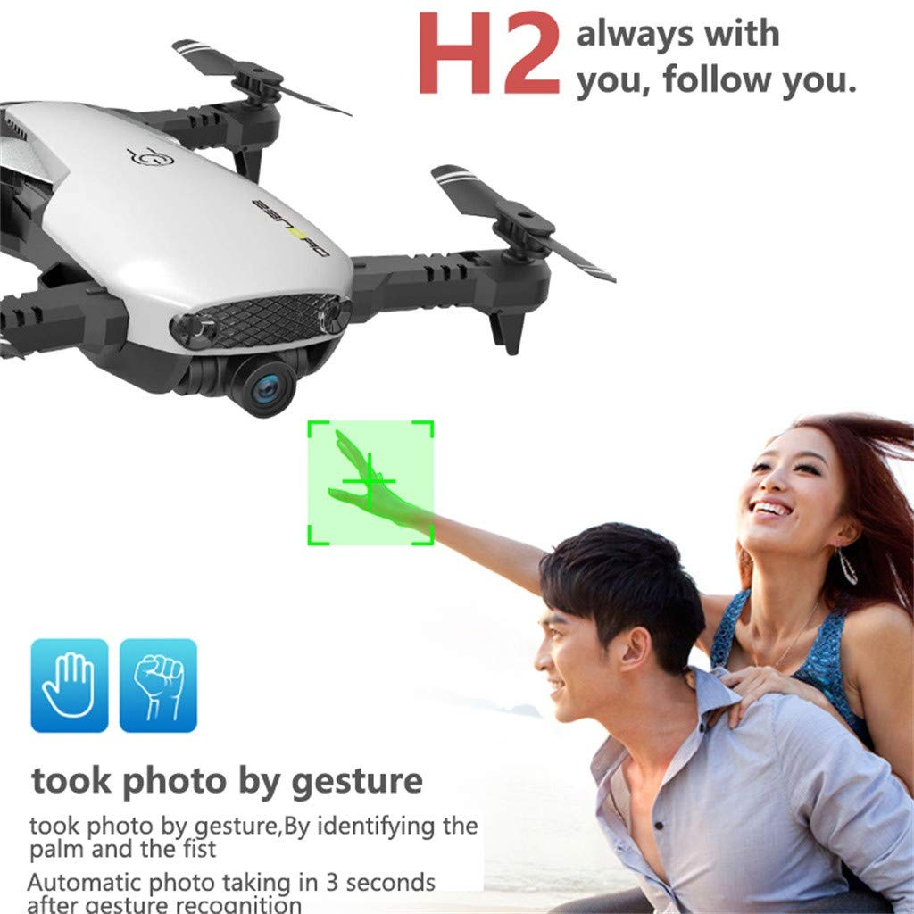 MOZATE H2 2.4Ghz 4CH WiFi FPV Optical Flow Dual 720P HD Camera RC Quadcopter Drone (AS Show) by MOZATE (Image #9)
