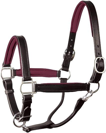 Details about  /Horze Largo Soft Padded Leather Halter Cob//C Dark Brown U-BR-C