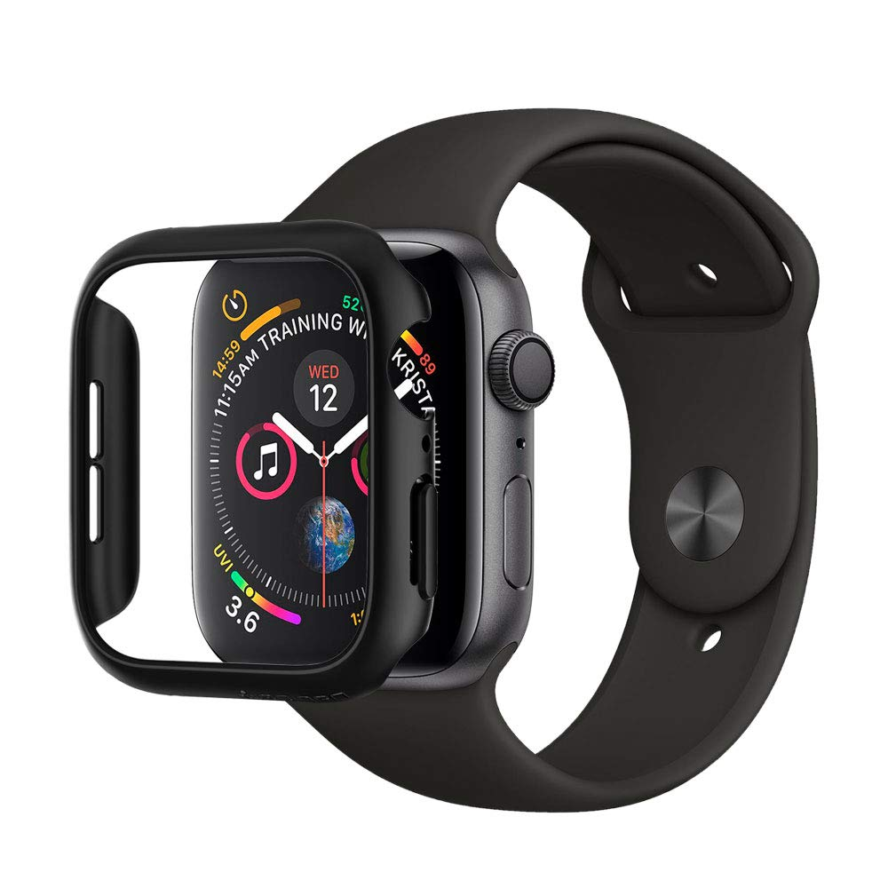 low priced 44039 3f09d Spigen Thin Fit Designed for Apple Watch Case for 44mm Series 4 (2018) -  Black