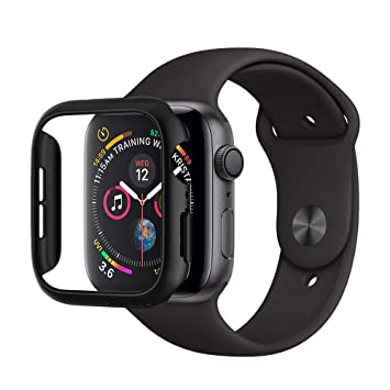 c1669847b0f Funda Apple Watch 4 44mm, [Thin Fit] Ultra-delgadez [Negro] diseño  aerodinámico óptimo Funda Carcasa pour Apple Watch Series 4 44mm:  Amazon.es: Electrónica