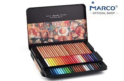 Amazoncom Colored Pencils By Marco Renoir Series Premium Color - Premium-color-pencils