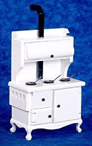 Aztec Imports, Inc. Dollhouse Miniature White Wood-Burning Stove