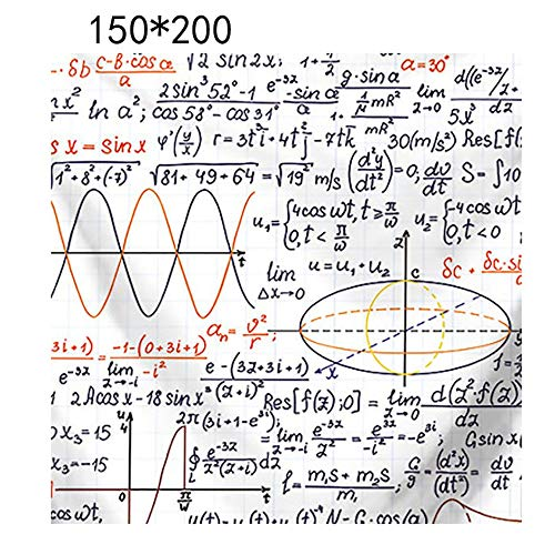 Sconosciuto Tappeto da Parete per arazzi Modello Hippie arazzo Appeso a Parete Indiano per tappezzerie di Formula Matematica Modello copriletto Tappetino Yoga da Spiaggia M Misto Multicolore