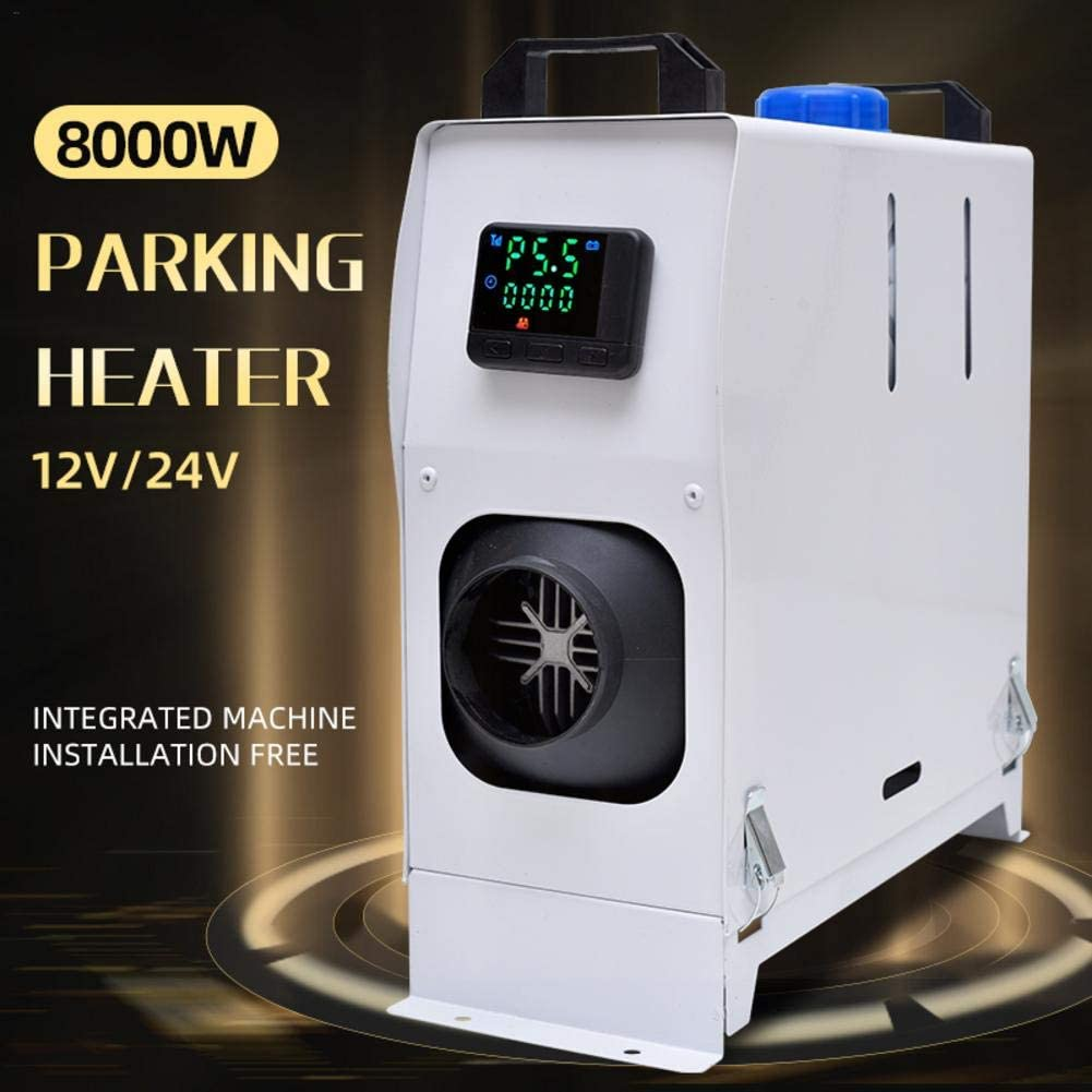 rethyrel Car Diesel Heater 12V 8KW Car Parking Heater with LCD Display Remote Control Vehicle Heater with Low Noise Fast Vehicle Heater for Car