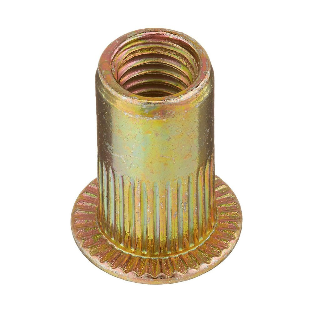 Tuercas - TOOGOO(R) 20 piezas M5 tuercas metricas de acero de cabeza plana de insercion de ciego PUKA1253