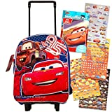 Disney Cars Toddler Preschool Rolling Backpack with Stickers