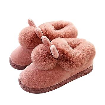 NYDZ Zapatillas de casa para Mujer Botines de algodón Acolchados cálidos Botines de Interior (Color : Vino Rojo, Tamaño : 36-37): Amazon.es: Hogar