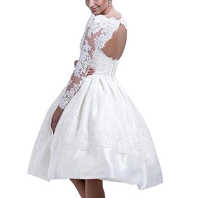 ed77ff5f0a7 Damen Prinzess Stil Skaterkleid Weiß Ballkleid Swing Kleider Blumenmuster Cocktailkleid  Abendkleid  Amazon.de  Bekleidung