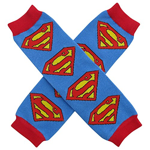 Halloween Costume Spooky Styles Holiday Leg Warmers - One Size - Baby, Toddler, Girl (Superman - Blue & (Superman Baby Costumes)