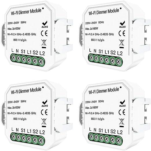 Module de variateur LED à 2 voies avec télécommande pour Alexa Google