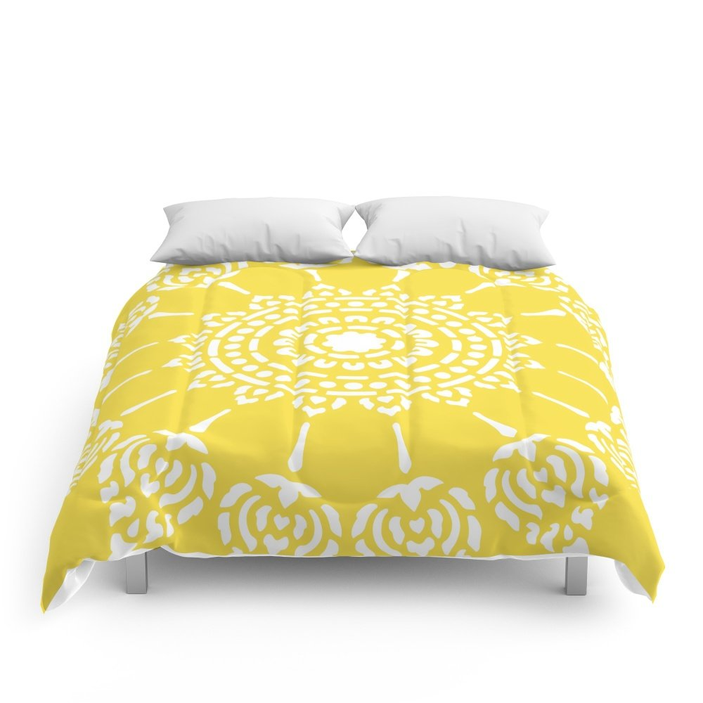 Society6 Thai Sun Yellow Comforters Full: 79'' x 79'' by Society6