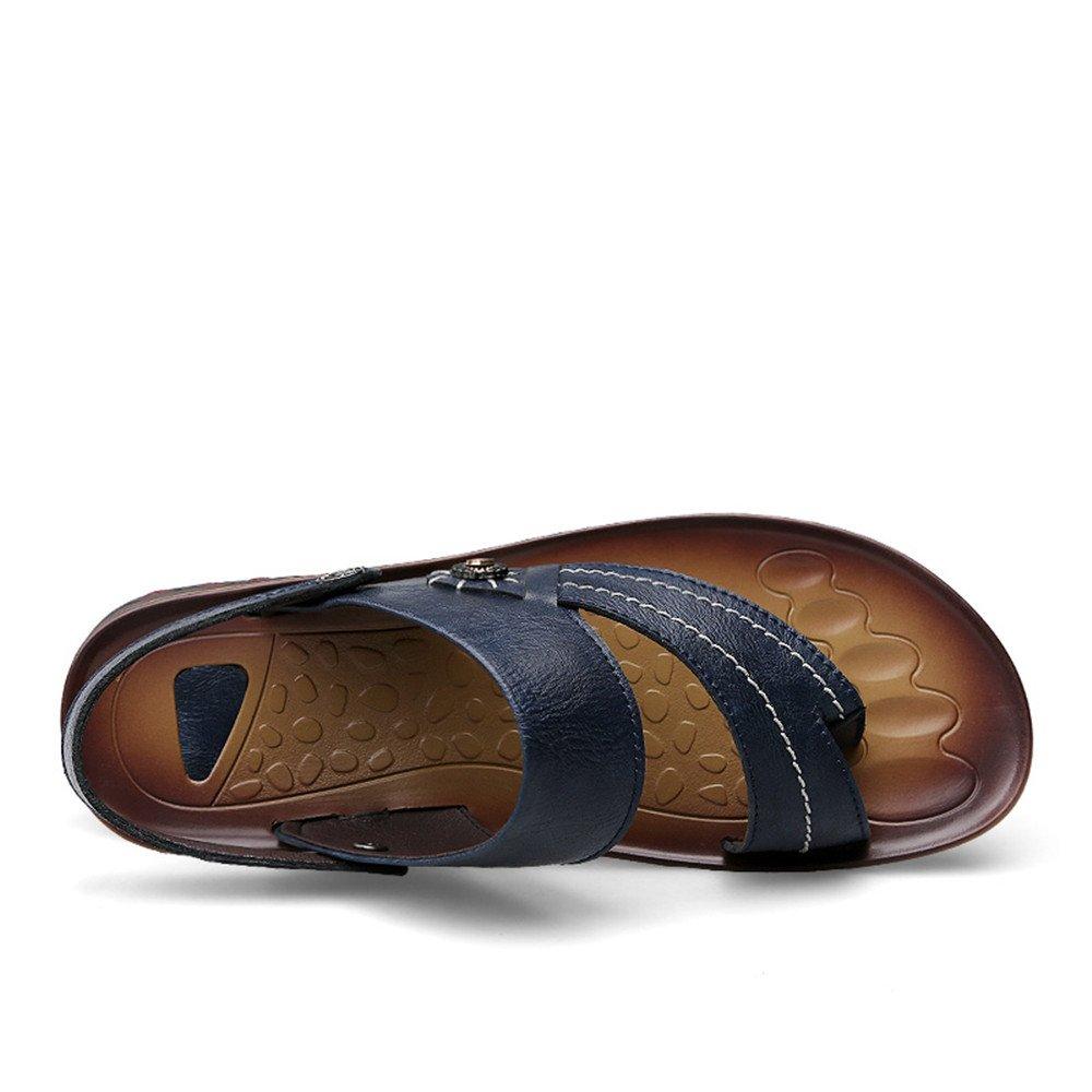 Xujw--scarpe Xujw--scarpe Xujw--scarpe Sandali da Uomo, Infradito casual da uomo Infradito Scarpe Sandali da spiaggia in ecopelle Sandali piatti morbidi antiscivolo (colore   Navy, dimensione   44 EU) 811bf6