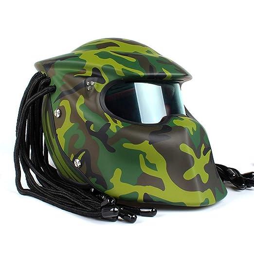 JohnnyLuLu Casco Integral Modular Crash de Motocicleta, depredador ...