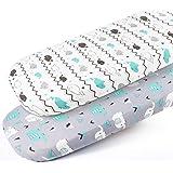 Stretch-Fitted-Bassinet-Sheet-Set-Brolex 2 Pack Cradle Sheets for Bassinet Pad/Mattress,Unisex Boys Girls,Ultra Soft…