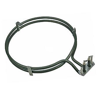 Horno Aire caliente, Circulación de aire Resistencia 2500 vatios adecuado para Siemens Bosch 083517,
